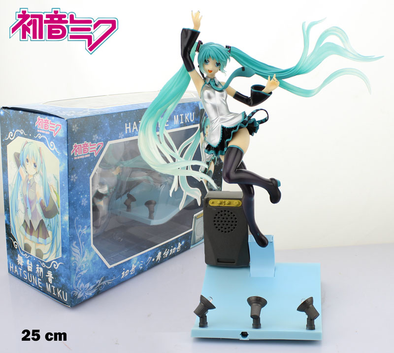 Free Shipping Hatsune Miku Stage Miku Light &amp; Music 1/7 Scale Boxed PVC Action Figure Collection Model Doll Toy Gift<br>