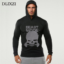 New skull 3d print men sporting hoodies fashion gyms Long sleeves male moletons body engineers bodybuilding cotton tracksuit