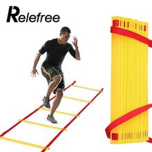 Relefree 8 Rungs Gait Training Ladder Agility Orange Exercise Sports Plastic Foot Soccer Team Outdoor Equipment Tool Trendy