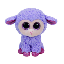 "Pyoopeo Original 6"" 15 cm TY Beanie Boos Lavender the Lamb Plush Stuffed Animal Collectible Big Eyes Sheep Doll Toy"
