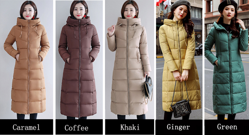 Plus Size 4XL 5XL 6XL womens Winter Jackets Hooded Stand Collar Cotton Padded Female Coat Winter Women Long Parka Warm Thicken 3