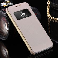 KISSCASE For LG G5 Smart Flip Stand Case Window View PU Leather Hard PC Back Cover Phone Bags Accessories for LG G5 Card Holder
