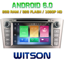 WITSON Android 6.0 Octa 8 Core 2GB RAM 32GB ROM CAR DVD GPS RADIO for TOYOTA AVENSIS 2005-2007 +1024X600+DVR/WIFI+DSP+DAB+OBD