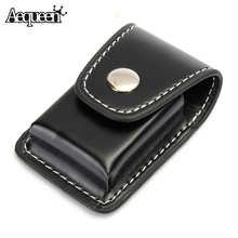 1pcs Men Cigarette Lighter Holder Bag Small BoxCase For Zippo Super Match High Leather Cover Windproof Refillable