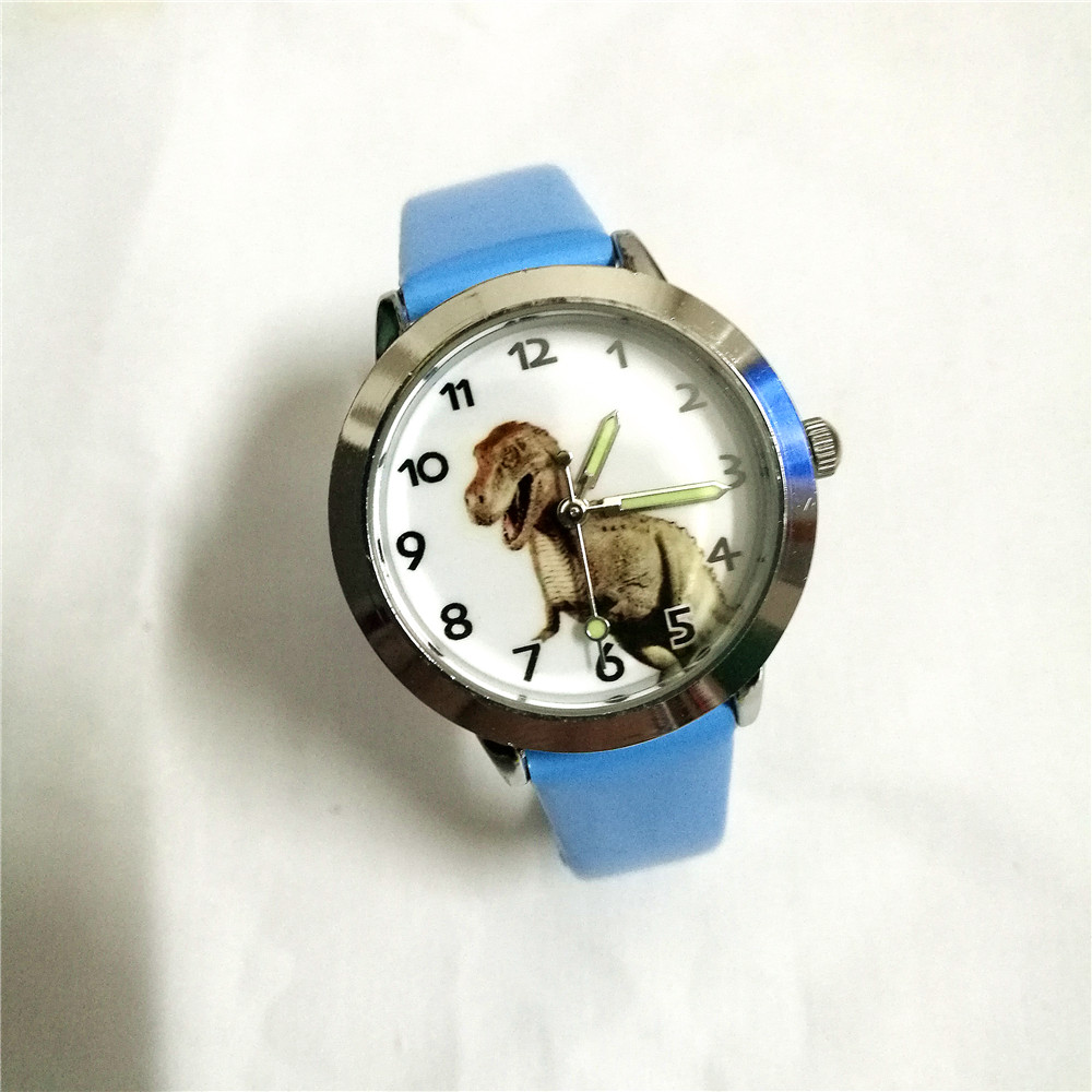 Watches Cooperative Children Boys Girls Quartz Cartoon Anime Dinosaur Watches Kids Fashion Leather Luminous Pointer Cool Students Birthday Gifts