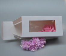 14 size white gift package box with window paper carton boxes wholesale cardboard boxes for packaging