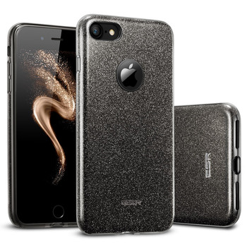 Case para iphone 7/7 plus, esr série maquiagem tampa traseira shinning 3-layer proteção bumper bling glitter case para iphone7 7 plus