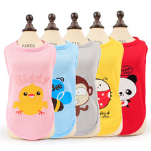 Cute Pet Dog Clothes For Small Dogs Lovely Animal Design Summer Puppy Dog Cat Clothing Chihuahua Dog Shirts Vest XS-XL