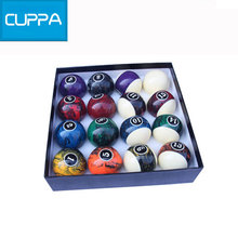 2016  Cuppa Pool Table Billiard Balls Set 57mm Size 16 Colors Billiards Accessories China New
