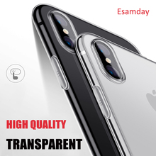 Buy Luxury Ultra Thin Soft Transparent TPU Case Apple iPhone X 8 8 Plus 7 Silicone Cover iPhone 6 6 7 Plus 5 5s SE Phone Bag for $1.10 in AliExpress store