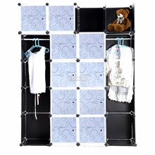 Homdox Fashion DIY 20 Cube Cupboard Cabinet Armoires Wardrobe Organizer Storage Bedroom Furniture