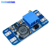 MT3608 DC-DC Step Up Converter Booster Power Apply Module Booster Power Module MAX Output 28V 2A For Arduino