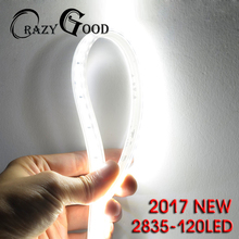 SMD2835 AC220v 0.5m Can be Cut LED Strip Light Flex Dimmable 120led Waterproof Ultra Bright High Color Rendering New Strips(China)
