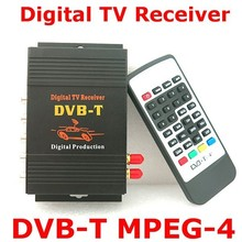 HD Car Auto DVB-T MPEG4 One Tuner HD Mobile Digital TV Receiver Box Fit for Europe  Car DVD Player GPS