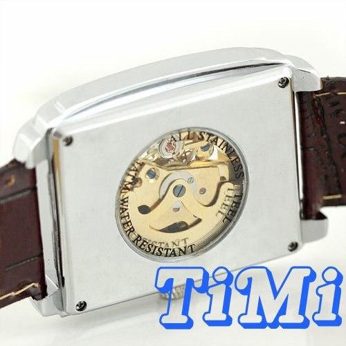 wholesale FASHION! mens white hollow cross automatic mechanical wristwatch<br><br>Aliexpress