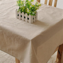 Table Cloth for 1pc HT8 Cotton Linen with solid color suitable for home boutique shop hotel dining and party decoration