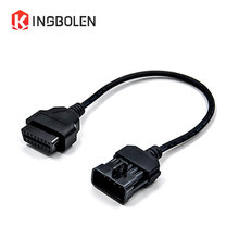 For Opel 10pin to 16Pin OBD/OBDII Car Extension Diagnostic Tool Cable for Opel 10 pin to OBD 16in famale Connector