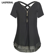 Buy LASPERAL Fashion Chiffon Blouse Women Short Sleeve Female Shirt 2018 Summer Sexy V-neck Female Tops Brand Soild Women Clothing for $3.93 in AliExpress store