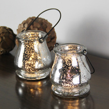 Glass Mercury Hanging Candle Holder in Silver, USD54.00 for 12pcs/Each USD4.50