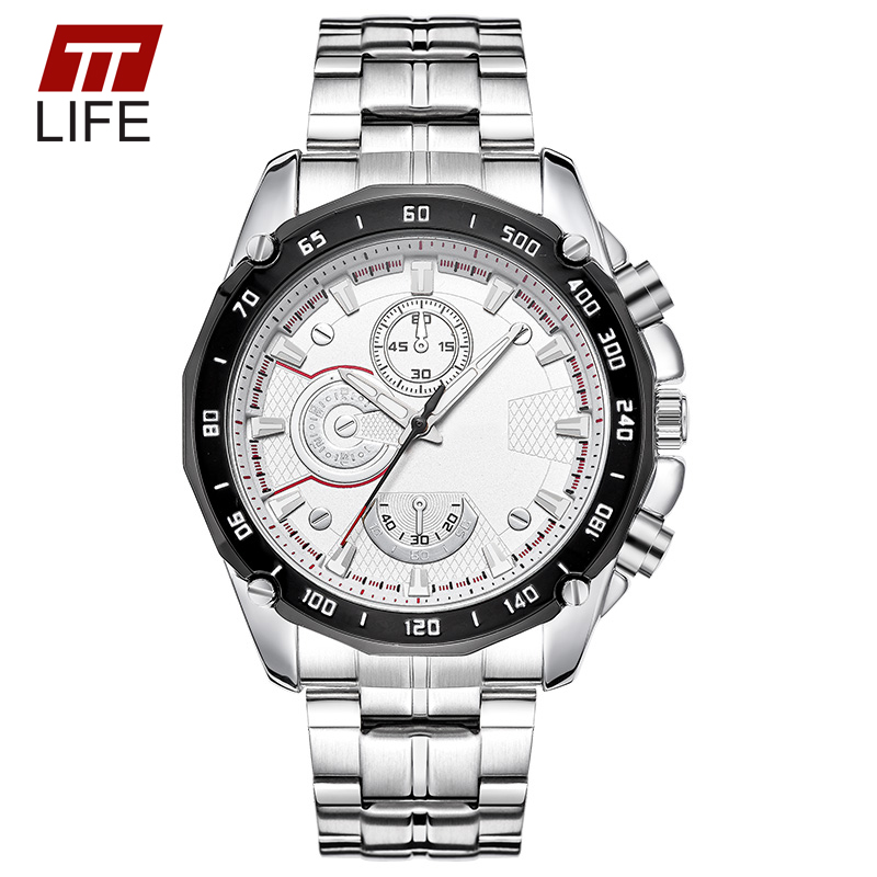TTLIFE Mens Luminous Quartz Watch Stainless Steel Band Scratch Resistant Concise Dial Waterproof Business Men Wrist Watch Clock<br><br>Aliexpress