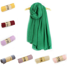 2016 New Winter Long Pure Color Cotton Linen Scarf Women/Men Scarves Clothing Accessories
