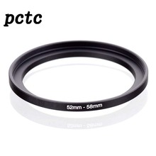 PCTC 2PCS 52mm-58mm 52 to 58 Macro Reverse Ring Filter Adapter for 52 to58 mm lens Mount For extension tubes adapter