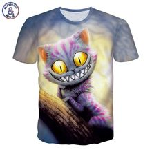 Mr.1991INC New Fashion Men/Women T-shirt Summer Tops Short Sleeve cat 3d Print T-shirt Space galaxy T shirt Cartoon Tees