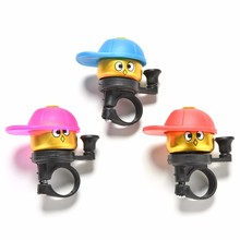 1PC Kids Bicycle Bell Cute Caps Bike Cycling Bell Kawaii Mini Small Boy Ordinary Ring Bells Bicycle Cup Horn Accessories(China)