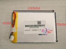best battery brand 3.7V 4000MAH 4070100 tablet battery with protection board For MID 7inch Tablet PC