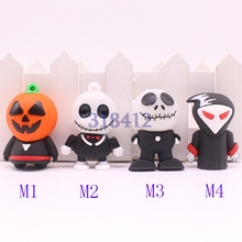 Promotion Gift Halloween pumpkin USB Flash Drive 8GB 16GB 32GB 64GB Memory Stick Pen Drive Disk for Laptop Computer Hallowmas