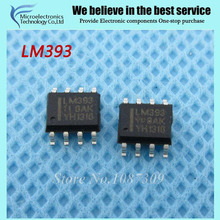 20pcs free shipping LM393 LM393DR LM393D SOP-8 Comparators Dual Differential new original(China)