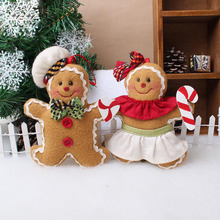 Christmas Tree Ornaments decorations cookie doll plush Xmas tree widgets The unicorn Gingerbread man Christmas Hanging Pendant(China)