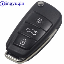 jingyuqin Folding Flip Remote Car Key Shell Case 3 Button Case For AUDI A6 For VW For Pasha for Bora for Skoda For Seat No Blade(China)
