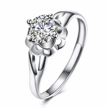 New high-end jewelry sweet romantic adjustable size hollow lace silver ringing beautiful girl wearing open silver ring