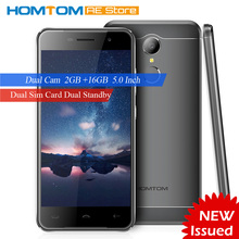 "HOMTOM HT37 Smartphone 3G 5.0"" 720*1280px MTK6580 Quad-core Android 6.0 2GB RAM+16GB ROM Dual Cameras 3000mAh Battery Cellphone"