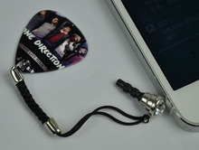 3.5mm 5Pcs Cellphone Earphone DockCover Ear Cap Anti-Dust Plug , One Direction Guitar Pick Dust Plug 5# Pattern(China)