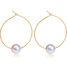 European Minimalist Personalized Fashion Jewelry Design Pearl Earrings Wholesale Geometric Simulation