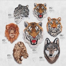 Embroidered small and big Tiger Patch Iron Sewing Applique Motorcycle Patches Shirt Bag Jacket Badges for Clothing Animal Patch