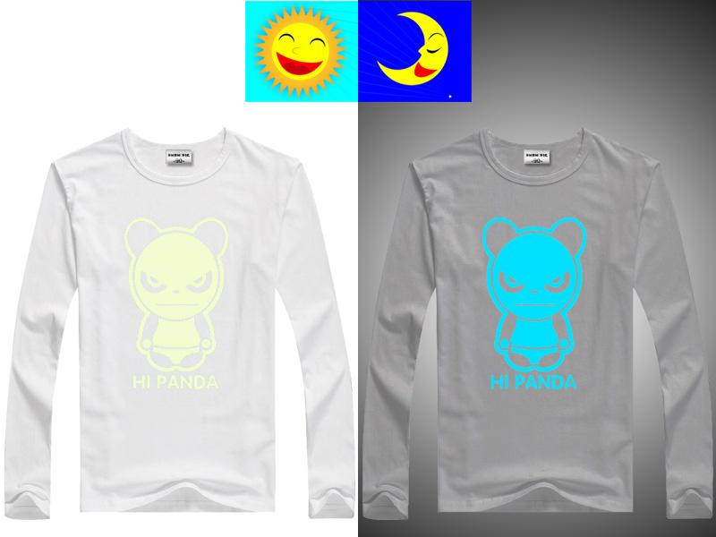 DMDM PIG Luminous T-Shirts For Girls Boys Long Sleeves Tops Kids Clothes Baby TShirt Children Toddler T Shirt 10 11 13 14 Years 10