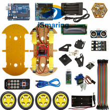 Official iSmaring DIY RC Bluetooth Smart Car Kit Multifunction Controlled Robot Kits for UNO Diy Wheeled Robotic Car Chassis Diy