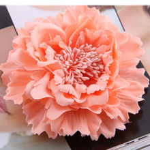 Hair accessory fabric peony big flower corsage brooch child full dress work wear hat flower