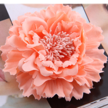 Hair accessory fabric peony big flower corsage brooch child full dress work wear hat flower(China)
