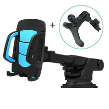 Car Phone Holder Gps Accessories Suction Cup Auto Dashboard Windshield Mobile Cell Phone Retractable Mount Stand(China)