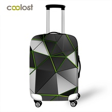 Geometric Travel Bag Cover Dust-proof Suitcase Protective Cover Pink Trolly Luggage Case Protector Portable Travel Accessories(China)