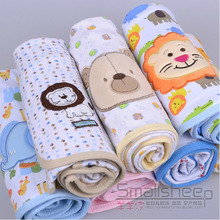 Free delivery baby newborn infant with spring and summer cotton blankets knitted cotton quilt towel scarf 100% cotton(China)