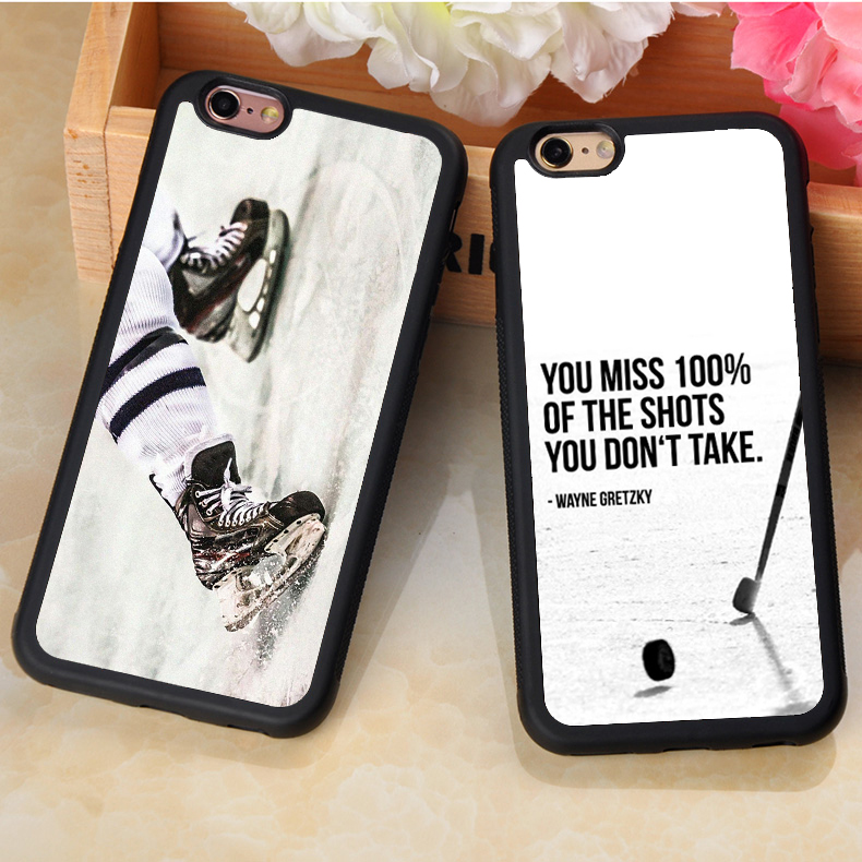 Love Ice Hockey Sport Printed Soft Rubber Protective Mobile Phone Cases For iPhone 7 7 Plus 6 6S Plus 5 5S 5C SE 4S Fundas Cases(China (Mainland))