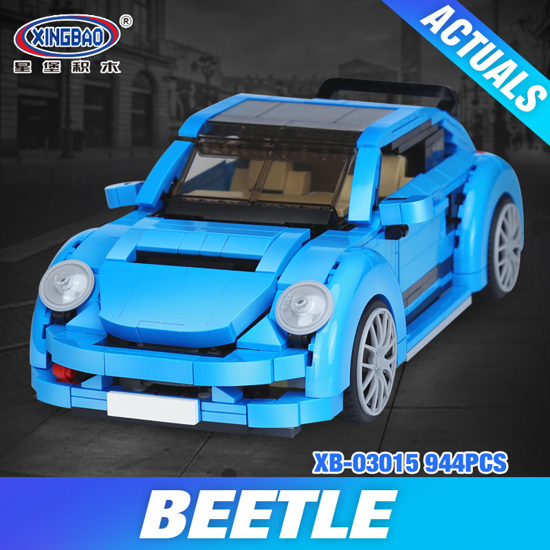 Xingbao 03015 944Pcs New Genuine Creative MOC Technic Series The Beetle Car Set Children Educational Building Blocks Bricks Toys<br>