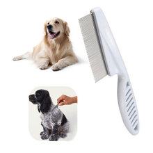 Pet Hair Grooming Trimmer Rake Comb Stainless Steel Combs Long Thick Hair Fur Shedding Remove Rake Comb Pet Grooming Brush