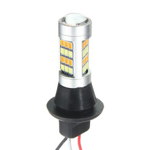 2x DC 12-24V T20 7440 2835 42SMD 1000LM 20W Car LED Light Dual Color Switchback Turn Signal Lamp Bulb Daytime Running Light DRL