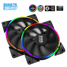 PcCooler 12cm case fan Halo LED AURA RGB 4pin PWM Quiet Suit for CPU cooler Liquid cooler 120mm computer cooling fan 1 PCS(China)